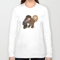 fili Long Sleeve T-shirts featuring Fili and Kili by Hattie Hedgehog