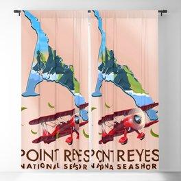 point reyes national seashore travel poster. Blackout Curtain