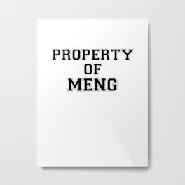 Property of MENG Metal Print