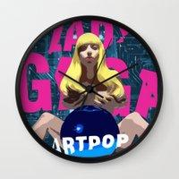 artpop Wall Clocks featuring ARTPOP by Marcelo BM