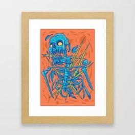 (Des)Integration Series - Blueskeleton Framed Art Print