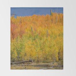 Autumn Colors - North_Rim Grand_Canyon, AZ Throw Blanket