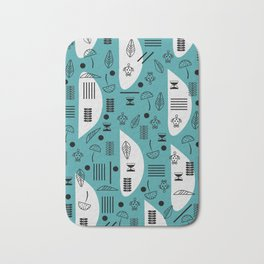 Little turtles and mushrooms Bath Mat