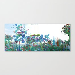Flying through everblue landscape Canvas Print