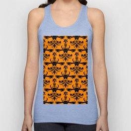The Flying Black Cat Spell   damask   orange pumpkin Unisex Tank Top