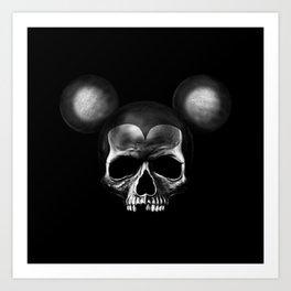 Mickey Mouse skull Art Print