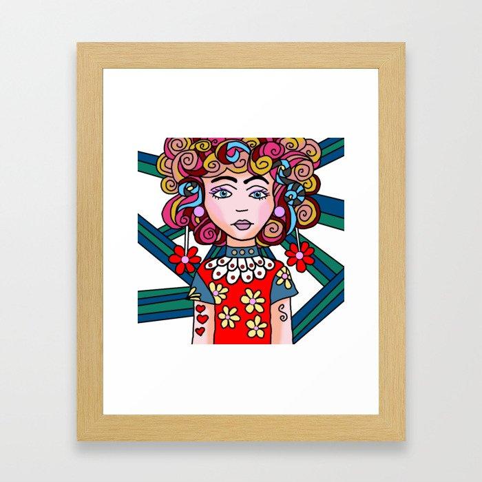 Style Girl - Ruby Framed Art Print