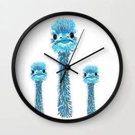 Curious Emu Wall Clock