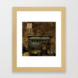 Abandonded shop in Normandy, France Framed Art Print