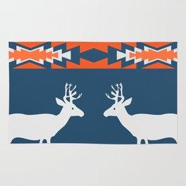 Deer winter pattern Rug