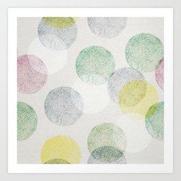 Colorful retro balls seamless pattern Art Print