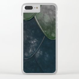 Pattern of colorful rounded roof tiles Clear iPhone Case