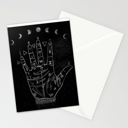 'Palmistry by Night' and moon phases by Kristen Baker Stationery Cards