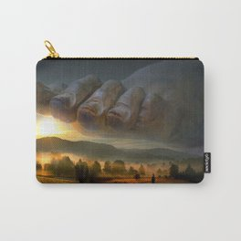 abstract composition. big foot on earth. the foot of god Carry-All Pouch
