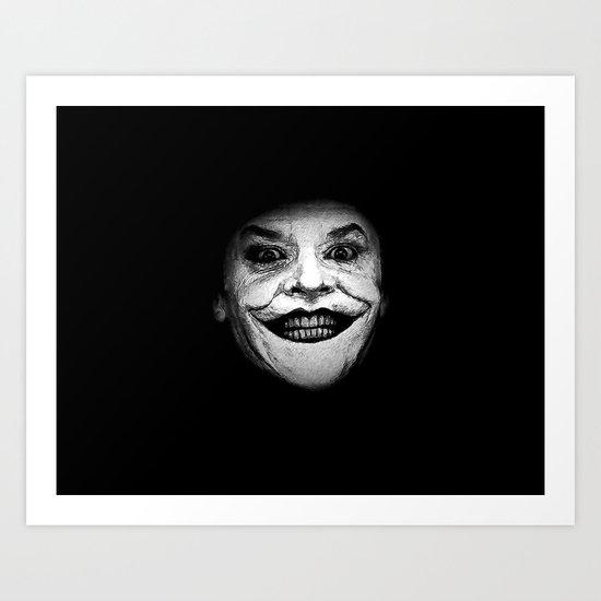 Jack Nicholson as The Joker - Pencil Sketch Style Art Print