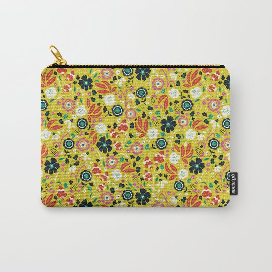 Flourishing Florals Carry-All Pouch