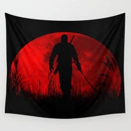 Red Moon Wall Tapestry
