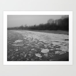 Frozen Sea  Art Print