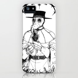 The Quiet Doctor (B&W) iPhone Case