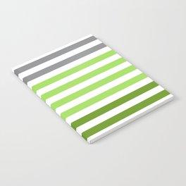 Stripes Gradient - Green Notebook