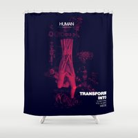 human Shower Curtains featuring Human by Frank Moth
