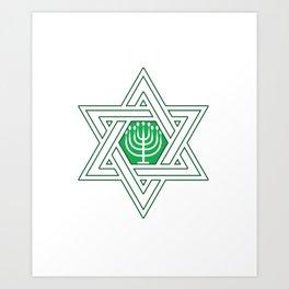 Israel Jews Menoa Jew It Funny Faith Gift Art Print
