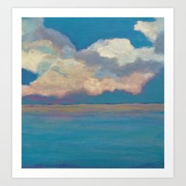 Pink Clouds at Sea Art Print