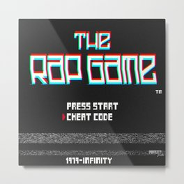 The Rap Game Screen Metal Print