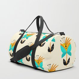 Abstract Flower Duffle Bag