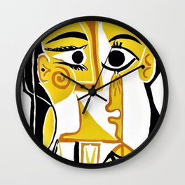 Pablo Picasso - Stylized Portrait of Jacqueline - Digital Remastered Edition Wall Clock