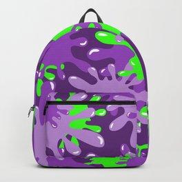 Slime in Green on Purples Backpack