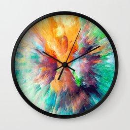 Multi color abstarct #society6 Wall Clock