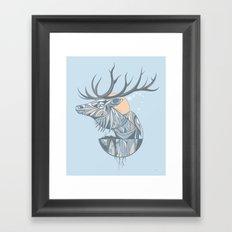 elk root blue Framed Art Print