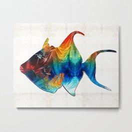 Trigger Happy Fish Art by Sharon Cummings Metal Print