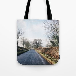 middle of the road in UK Tote Bag
