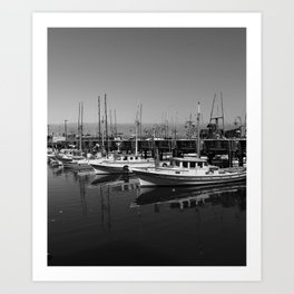 Boats At Fishermans Wharf San Francisco Art Print