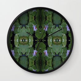 Water Lily Pattern Wall Clock