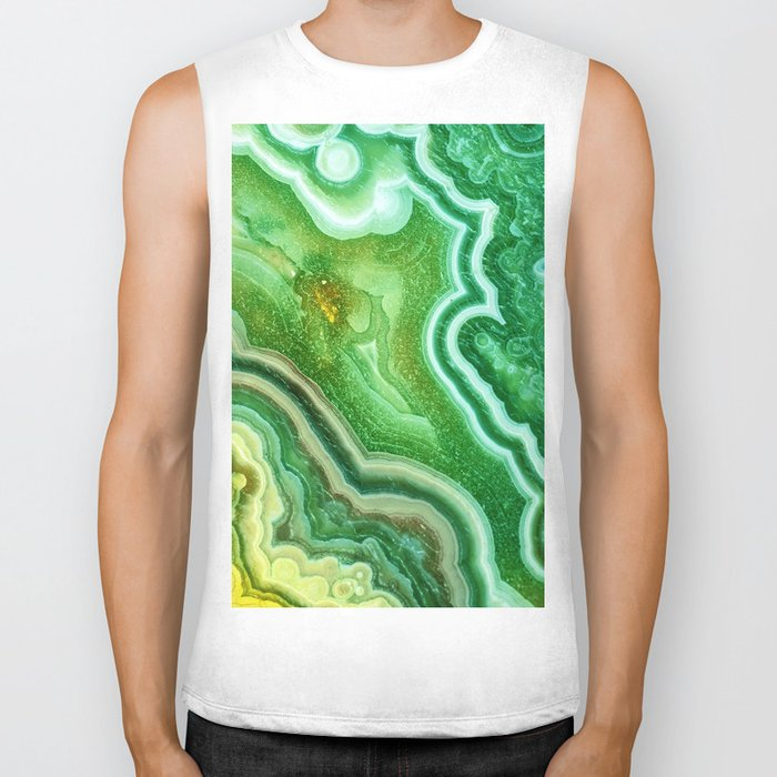 Green Onyx Marble Biker Tank