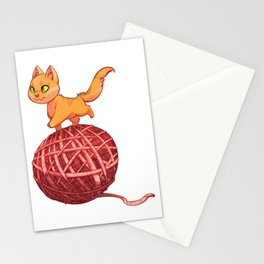 Kitten On Yan Stationery Cards