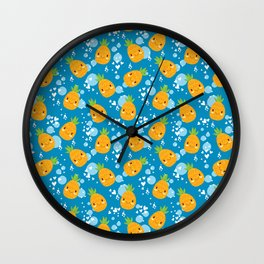 Funny Pineapples 6 Wall Clock