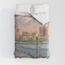 Winter Dreams - Providence, Rhode Island on a Winter's Day landscape Comforters