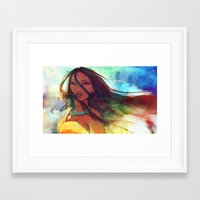 princess Framed Art Prints featuring The Wind... by Alice X. Zhang