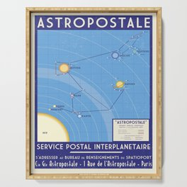 ASTROPOSTALE - Solar System Map Serving Tray