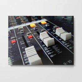 audio mixer music recorder device Metal Print