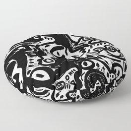 Dark Street Art Stencil Vector Graffiti Floor Pillow