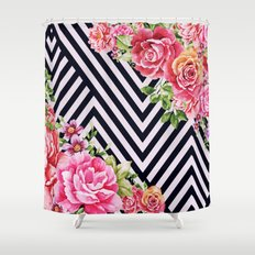flowers geometric Shower Curtain