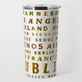 Travel World Cities Travel Mug