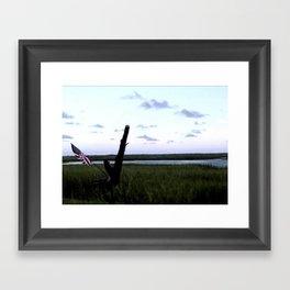 American Marsh View Framed Art Print