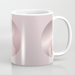 Pink Minimalistic Yin And Yang Symbol Coffee Mug