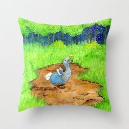 The Dodo Sinks Throw Pillow